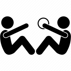 Ball exercise gym partner teammate training workout icon Download on Iconfinder