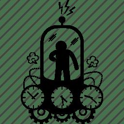 Machine, time, time machine, time travel, travel icon
