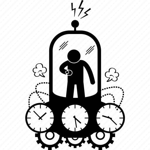 Machine, time, time machine, time travel, travel icon