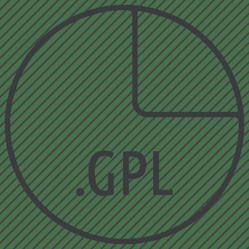 Extension, file, format, gimp, gpl, inkscape, palette icon