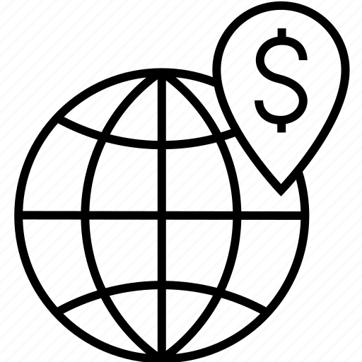 Business, dollar, earth, finance, globe, location, map