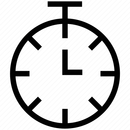 Clock, deadline, stopwatch, stopwatch piece, time, timer icon