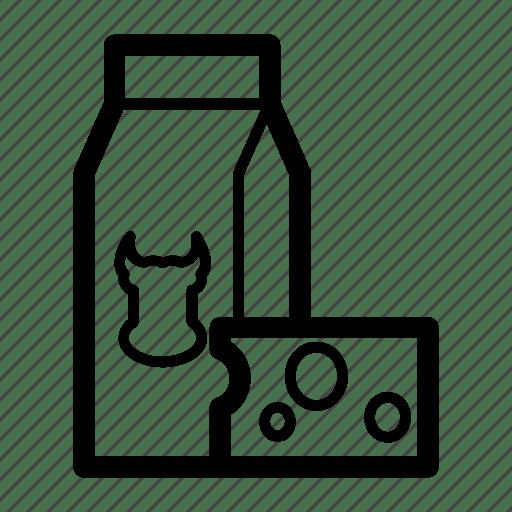 Cheese, diary, milk icon