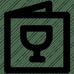 Drink menu food menu menu card restaurant menu wine menu icon Download on Iconfinder