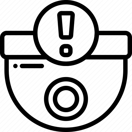Alert, automation, camera, home, outline, security icon