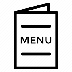 menu icon restaurant options navigation hotel menucard icons editor open data line dna applications mobile