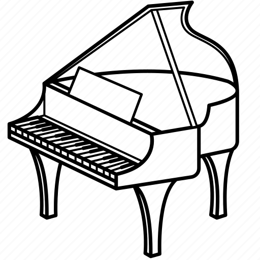 Instruments, music, old, piano, play, player, songs icon