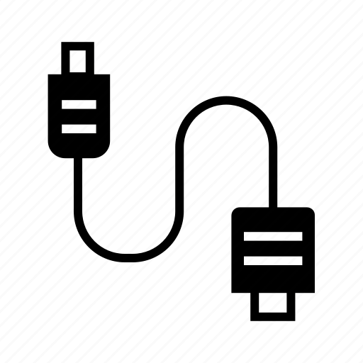 Adapter, connectivity, plug, plugin, usb cable, wire icon