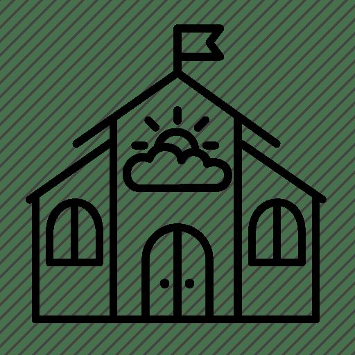 Building, children, kids, kindergarten, nursery school