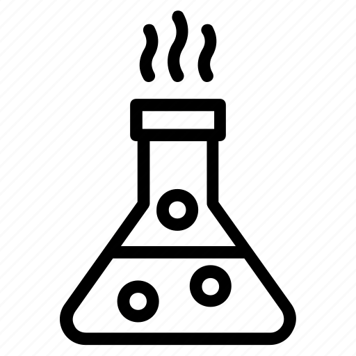 Chemical flask, chemical reaction, conical flask, lab
