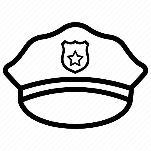 Crime, justice, law, police, police hat, policeman