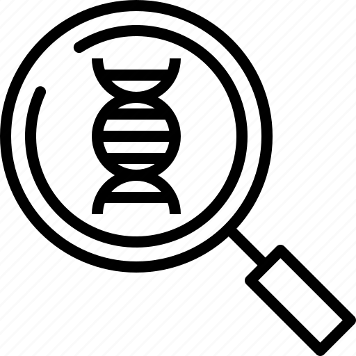 Analysis, crime, dna, forensic, investigate, law, test icon