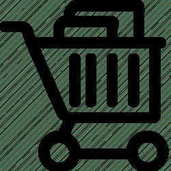 cart shopping icon editor open