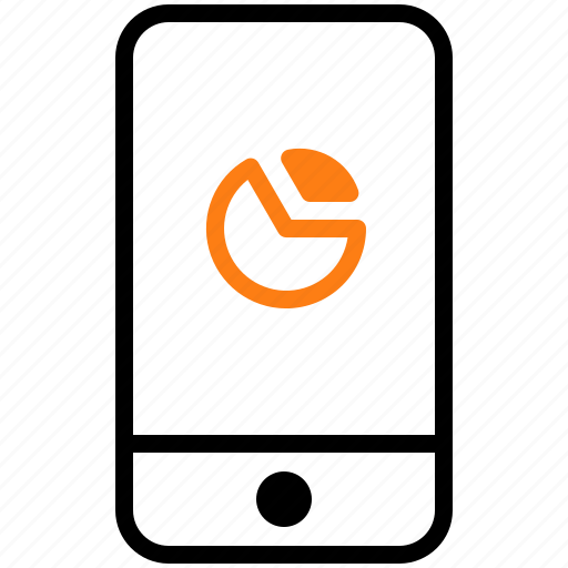 Chart. device. gadget. mobile. phone icon