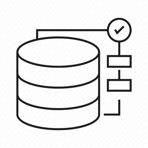 Database, diagram, hosting, network, secure, server icon
