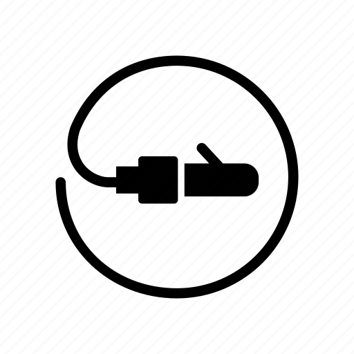 Audio, cable, electronics, jack, wire icon