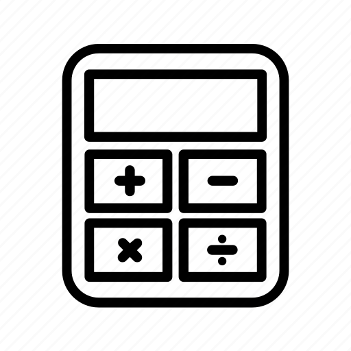 Calculator, count, numbers icon