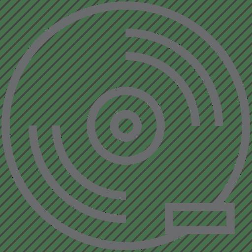 Disc, remove icon