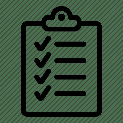 Checklist, clipboard, list, report, tasks, ticks icon