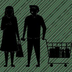 shopping icon husband wife couple supermarket editor open