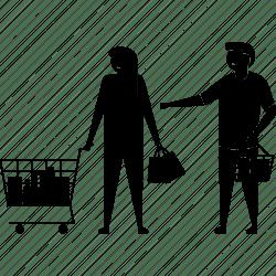 shopping icon couple husband wife supermarket icons editor open