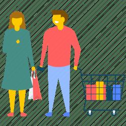 shopping icon wife husband couple icons supermarket 512px