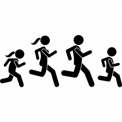 Family people run running icon Download on Iconfinder