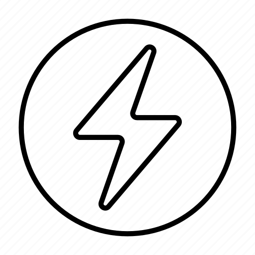 Charging, electricity, energy, lightning, voltage icon