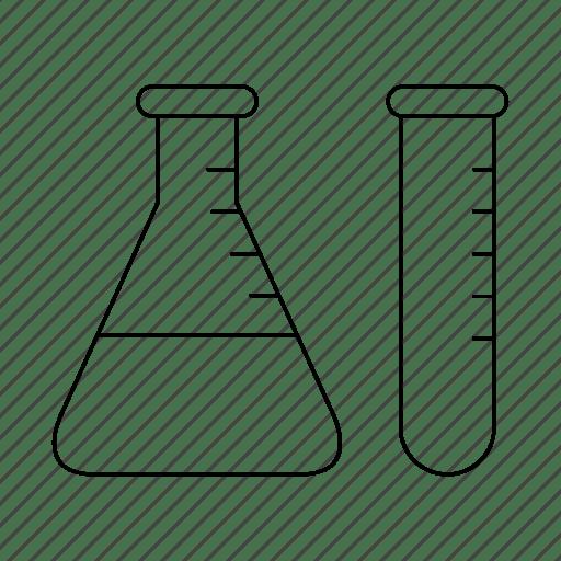 Chemistry, lab, test, tube icon
