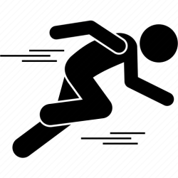 Dynamic fast man running icon Download on Iconfinder