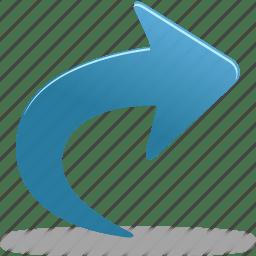 Arrow go go into into right icon