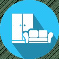 Flat, furniture, icon, repairs, sofa icon