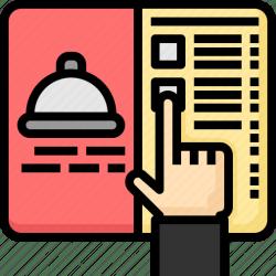 menu choose icon order restaurant cooking editor open