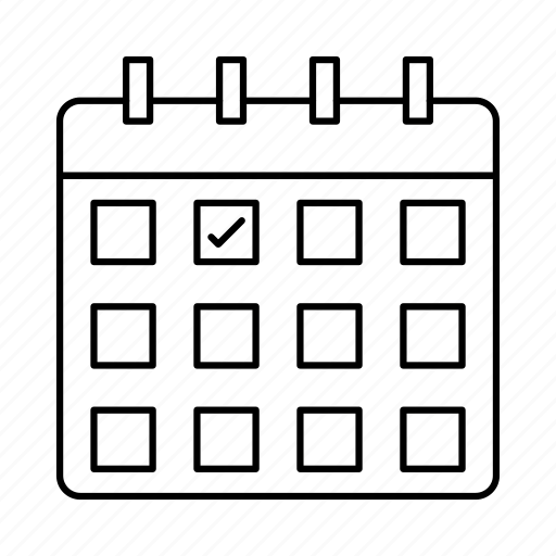 Appointment, calendar, clock, plan, year icon