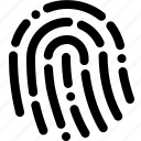 Finger print, id, touch, touch id icon