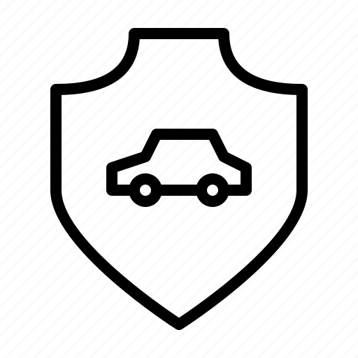 Car, protection, safety, secure, security, shield icon