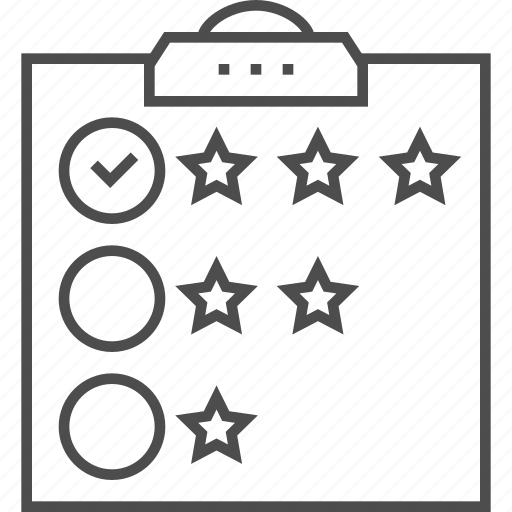 Check, checklist, customer review, list, mark, ok, star icon