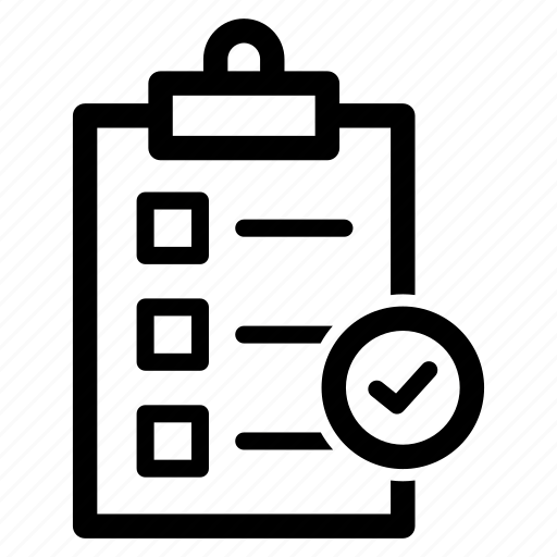 Checklist, completion, enquiry, seo, submission, task icon