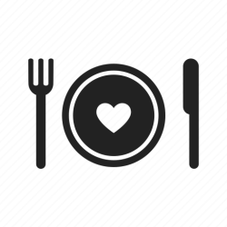 icon eat eating food fork plate cooking cook heart knife icons kitchen meal healthy tableware favorites drudge report salmon yakutat