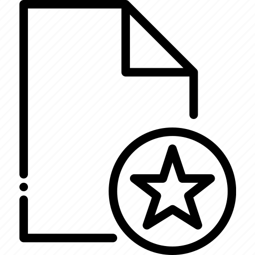 Favourite, file, outline, shared, type icon