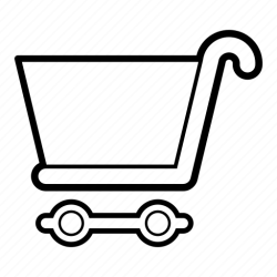 shopping cart trolley icon ecommerce commerce plain 512px