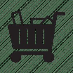 shopping cart push items icon ecommerce wheels editor open kart