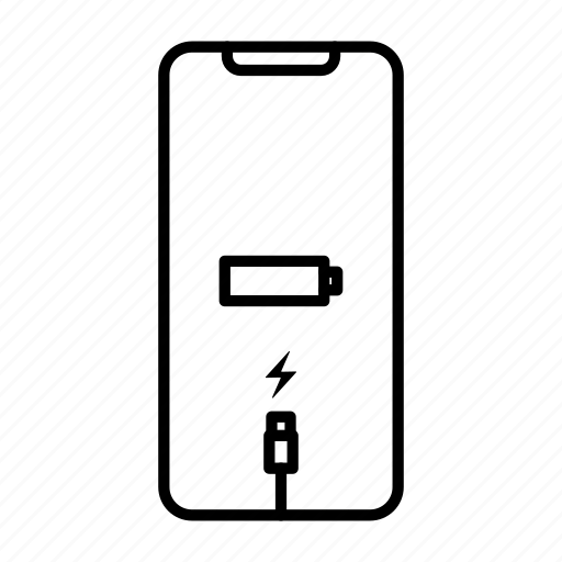 Apple, battery, charge, iphone, mobile, phone, smartphone icon
