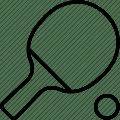 Ball, paddle, ping, pong, racket, table, tennis icon