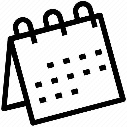 Calendar, desk calendar, desktop calendar, schedule, table