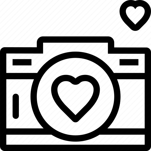 Download Camera, favorite, heart, love, photo, photography icon