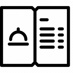 menu icon restaurant editor open