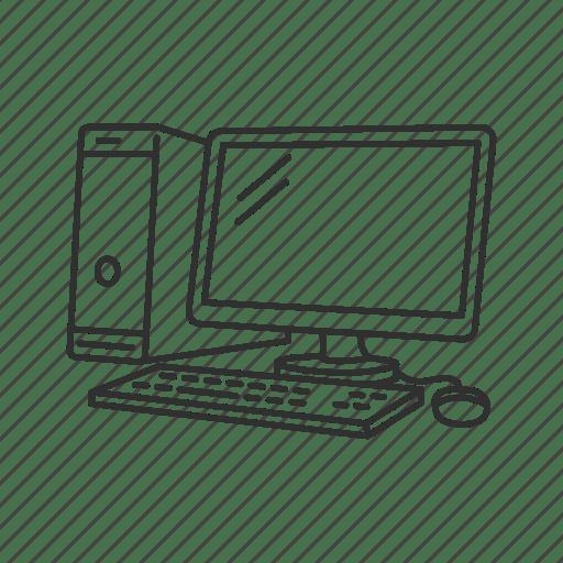 Computer, developer, pc, web developer icon