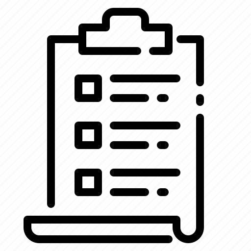 Check, clipboard, inventory, list, store icon