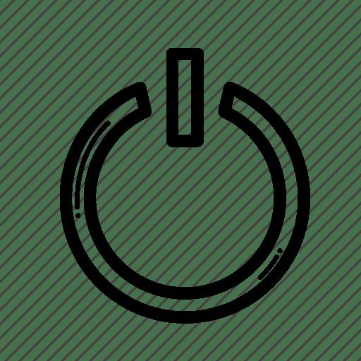 On, power, reset, turn icon